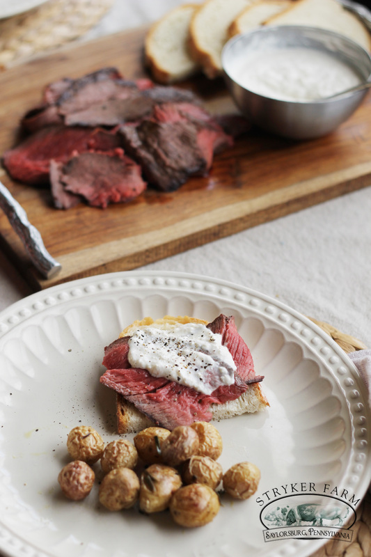 London Broil with Horseradish Sauce - Stryker Farm